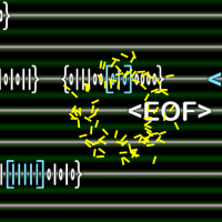 A yellow exploding avatar which had just gotten hit by an <EOF>